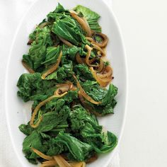 Sharply flavored and nutritionally rich mustard greens are best served sauteed.