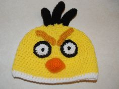 Crochet Creative Creations- Free Patterns and Instructions: Crochet Angry Yellow Bird Hat