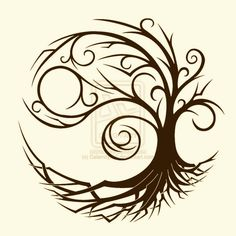 yin yang tree softened