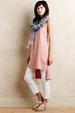 NEW Anthropologie High-Low Tunic Tank by Left of Center S M Cotton Made in USA