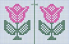 Cross Stitch Patterns Free Easy, Cross Stitch Borders, Cross Stitch Alphabet, Cross Stitch Flowers, Cross Stitch Kits, Cross Stitch Charts, Cross Stitching, Beaded Cross Stitch, Cross Stitch Embroidery