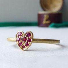 Cherish Fairtrade 18k Gold Ruby Heart Ring