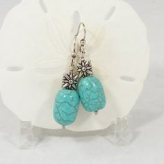 Handmade Earrings Turquoise & Sterling Silver by SweetFreedom, $24.50