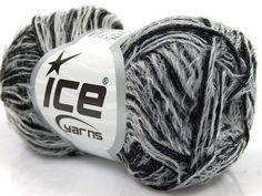 ice yarns samba black white eyelash type yarn by turkishmarket, $4.50