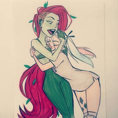 Harley Quinn and Poison Ivy • Concept Art// color sleeve ✤   