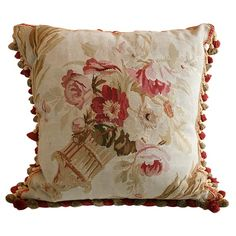 Antique Aubusson Pillow | From a unique collection of antique and modern pillows and throws at http://www.1stdibs.com/furniture/more-furniture-collectibles/pillows-throws/