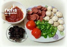 Bol Malzemeli İncecik Hamuruyla Aile Boyu Tepsi Pizza(Hamuru Efsane) Pizza, Salsa, Beef, Food, Meat, Essen, Salsa Music, Meals, Eten