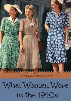 In a nut shell 1940's women's fashion were about creating a certain silhouette. Wide padded shoulders, nipped in high waist tops, and a-line skirts that came down to the knee. This was the everyday shape for clothing from suits to dresses. Even pants had a similar shape.  1940's fashions were all about the hour glass figure with broad shoulders, tiny waists and full hips. If you were not naturally an hour glass shape the clothes were designed to help you achieve the look.