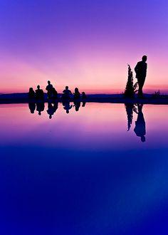 purple silhouette #sunset