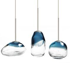 modern mini blown glass art led pendant lighting