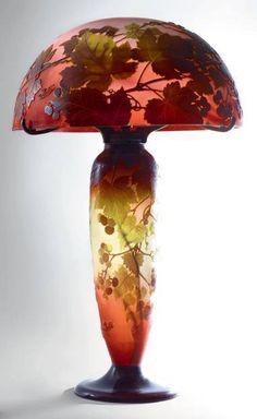Art Nouveau Lamp by Èmile Gallè, ca. 1900