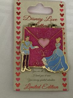 Love Letters CINDERELLA & PRINCE CHARMING LE Pin