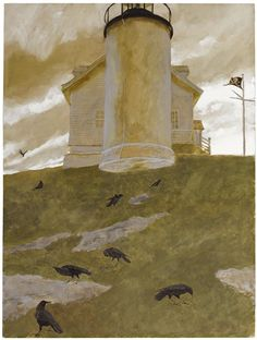 Artwork by Jamie Wyeth, Nine is a Secret, Made of Mixed media on board