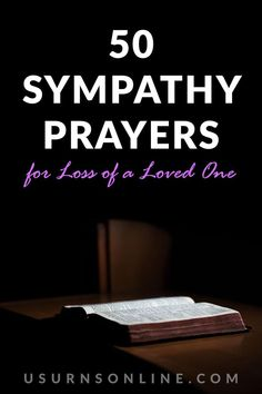 When we can't find the right words for our prayer, sometimes some inspiration may help. With 50 thoughtful, unique sympathy prayers, we're sure you'll find what you need here. #sympathyprayers #comfortingquotes Sympathy Prayers, Grieving Friend, Urn, Spirituality, Bible, Biblia, Spiritual, The Bible