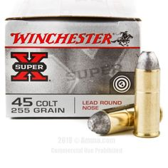 Winchester 45 Long Colt Ammo - 20 Rounds of 255 Grain LRN Ammunition #45LongColt #45LongColtAmmo #Winchester #WinchesterAmmo #Winchester45LongColt #LRN