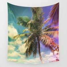 Prismatic Palm Wall Tapestry Home Decor #sold on @society6