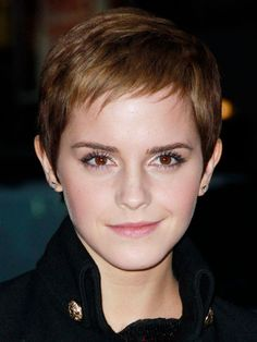 emma watson's short hair | classic emma watson s pixie is short enough to be gamine but just long ...