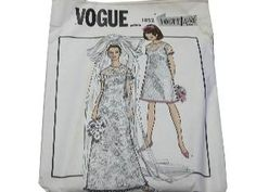Loving the 1960s Vogue and McCall's patterns- bridal maxi dresses and bridesmaid babydolls!
