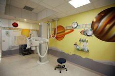 Ambientación en sala de radiología