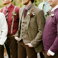 Love the tweed suit and fall colours!