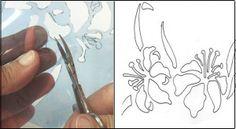 Como fazer moldes para stencil com acetato
