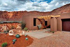 Arquitectura de Casas: Moderna residencia de adobe en Norteamérica.