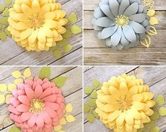 PDF Tiny Rose 3 Paper Flower 6 Different sizes Trace and   Etsy How To Make Paper Flowers, Large Paper Flowers, Paper Flowers Wedding, Paper Flower Decor, Flower Decorations, Flower Diy, Flower Ideas, Cricut, Silhouette Cameo