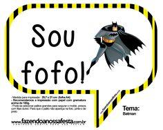 Plaquinhas Divertidas Batman: