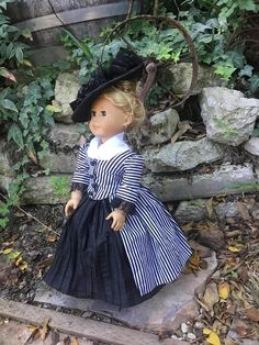 1770s En Forreau Gown in two pieces plus hat and petticoat