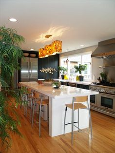 Modern kitchen picture featuring Thermador Freedom® Collection and Professional Series kitchen appliances