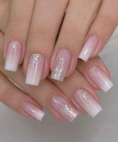 Manicure Nail Designs, Acrylic Nail Designs, Nail Manicure, Nail Art Designs, Gel Nails, Elegant Nails, Stylish Nails, Tapered Square Nails, Nagellack Design