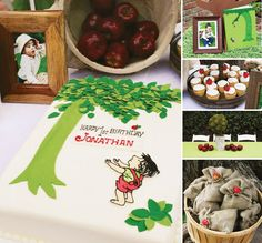 Shel Silverstein fans: Check out this sweet & rustic Giving Tree Themed First Birthday Party