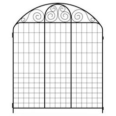 Hampton Bayu0027s Black Steel Summer Scroll Fence Panel Is An Attractive And  Affordable Way To Accent Gardens Or Walkways.
