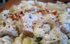 Petto di pollo con cavolfiore e yogurt al forno - Piatto unico di petto di pollo e verdure, in questo caso cavolfiori, ripassati al forno con lo yogurt.