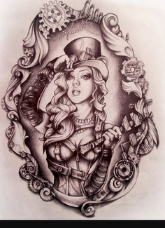Trendy Ideas Tattoo Sleeve Designs Drawings Alice In Wonderland Tattoo Sleeve Designs, Sleeve Tattoos, Tatouage Goth, Tattoo Sketches, Tattoo Drawings, Gear Tattoo, Alice In Wonderland Drawings, Alice In Wonderland Tattoo Sleeve, Deviantart Tattoo