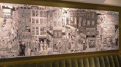 Soho, Vintage World Maps, Tapestry, Street, Drawings, Restaurant, Painting, Illustrations, Art