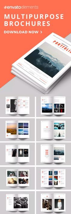 Unlimited Downloads of 2018's Best Brochure Templates Magazine Layout Design, Book Design Layout, Print Layout, Magazine Layouts, Brochure Cover, Brochure Layout, Brochure Design, Corporate Brochure, Brochure Template
