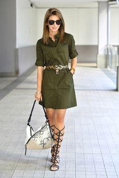 White Fashion, Work Fashion, Fashion Design, Safari Dress, Looks Street Style, Military Fashion, Fashion Boutique, Everyday Fashion, Trendy Outfits