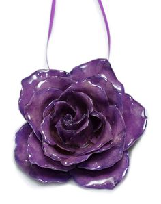 Preserved Purple Rose Christmas Ornament from The Purple Store! Purple Love, All Things Purple, Purple Rain, Shades Of Purple, Deep Purple, Pink Purple, Purple Stuff, Purple Christmas Decorations, Purple Christmas Ornaments
