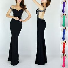2014 CHEAP! Sexy Mermaid Style Evening Party Gown Bridesmaid Long Prom Dresses #Unbranded #BallGown #Formal