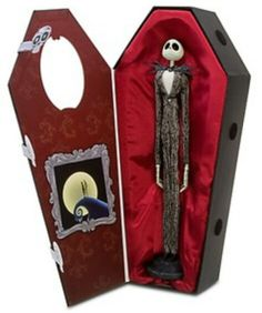 Nightmare Before Christmas Jack Skellington doll in coffin gift box