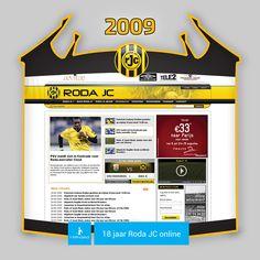 Screen www.rodajc.nl anno 2009.   Aan het einde van het seizoen '08/'09 werd Roda J.C. veroordeeld tot het spelen van play-offs tegen degradatie. Dit was in feite nog een wonder: op de laatste speeldag werd in de Kuip tegen Feyenoord rechtsreekse degradatie voorkomen met een 3-2 overwinning.  Klassebehoud werd veiliggesteld na 3 wedstrijden tegen SC Cambuur (0-0, 1-1, 2-2). Het feest barstte los laat in de avond in Leeuwarden na een spannende strafschoppenserie.