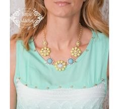 LoVe this Lustrous Floral Necklace. A little summer class + bling = HOT! $9.95