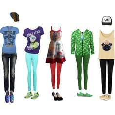 My fandoms!!! There's Ravenclaw (Harry Potter), Invader ZIm, Star Wars, Minecraft, and pugs! It's missing ANimorphs and W.i.t.c.h. but only because there's not enough items to make an outfit out of.