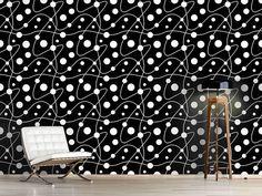 Design #Tapete Kreisrund Schwarz Weiss Design, Self Adhesive Wallpaper, Wall Papers, Monochrome