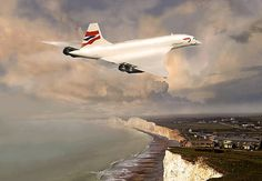 British Airways Concorde SST - End of an era by Bob Martin Concorde, Concord Airplane, Tupolev Tu 144, Passenger Aircraft, A380 Aircraft, End Of An Era, Classic Car Insurance, Airplane Art, Commercial Aircraft
