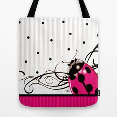 Shop Cheryl Daniels's store featuring unique designs on various products across art prints, tech accessories, apparels, and home decor goods. Graphic Art Prints, Red Tote Bag, Red Bags, Cheryl, Womens Tote Bags, Tech Accessories, Ipad Case, Ladybug, Reusable Tote Bags