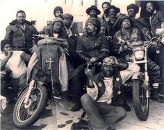 Black motorcycle clubs emerged throughout California in the 50s & 60s, and fought against racism and stereotypes of the day for their right to live the outlaw biker lifestyle — like the East Bay Dragons, Fresco Rattlers, Outlaw Vagabonds, Defiant Ones; down South in LA were the Choppers, Soul Brothers & of course, the Chosen Few.