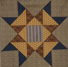 Pieced block pattern