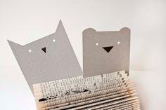 2 Postkarten Eule und Bär von bär von pappe auf DaWanda.com